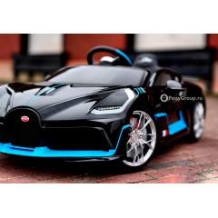 Детский электромобиль Bugatti Divo HL338 (резиновые колеса, кожа)