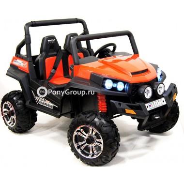 Детский электромобиль BUGGY T009TT 4x4 (ПОЛНЫЙ ПРИВОД, двухместный, кожа, резиновые колеса)