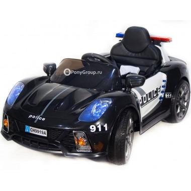 Детский электромобиль CH 9919A Police  (с резиновыми колесами, кожаным сиденьем, громкоговорителем)