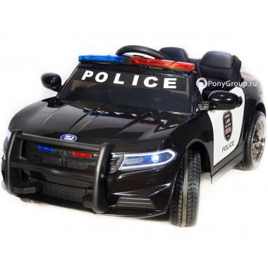 Детский электромобиль Dodge Police JC 666 (с резиновыми колесами, кожаным сиденьем, громкоговорителем)