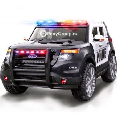 Детский электромобиль FORD EXPLORER POLICE CH 9935 (с резиновыми колесами, кожаным сиденьем, громкоговорителем, рацией)
