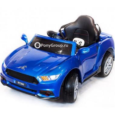 Детский электромобиль FORD MUSTANG RT560 (с резиновыми колесами, кожаным сиденьем)