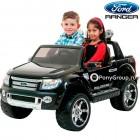Детский электромобиль FORD RANGER 2016 NEW F150 (ДВУХМЕСТНЫЙ, резиновые большие колеса, кожа)