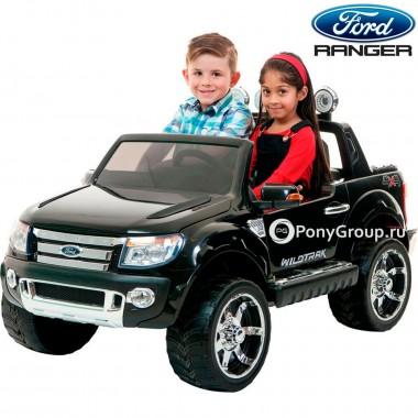 Детский электромобиль FORD RANGER 2016 NEW F150 (двухместный с резиновыми колесами и кожаным сиденьем)