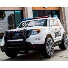 Детский электромобиль FORD EXPLORER POLICE T111MP (резиновые колеса, кожа, громкоговоритель, рация)