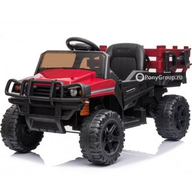 Детский электромобиль HUMMER TR 999 (с резиновыми колесами и кожаным сиденьем)