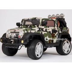 Детский электромобиль JEEP WRANGLER JJ-JJ235 (резиновые колеса, кожа)