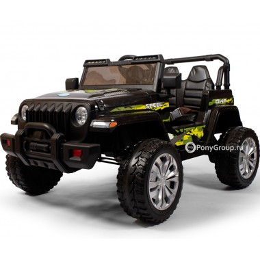 Детский электромобиль JEEP M007MP (с резиновыми колесами и кожаным сиденьем)