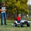 Детский электромобиль JEEP S605 4x4 (полноприводный 4х4 с резиновыми колесами и кожаным сиденьем)