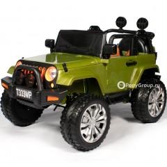 Детский электромобиль JEEP WRANGLER T333MP 4x4 (полный привод, кожа, резиновые колеса)