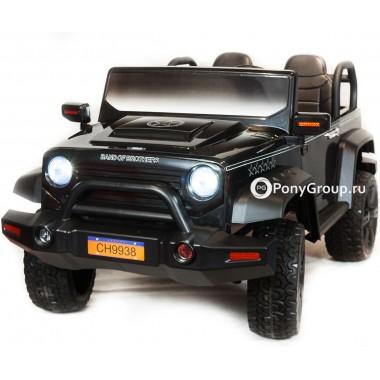 Детский электромобиль JEEP WRANGLER CH 9938 (двухместный с резиновыми колесами и кожаным сиденьем)