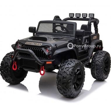 Детский электромобиль JEEP WRANGLER M999MP (двухместный с резиновыми колесами и кожаным сиденьем)
