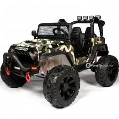 Детский электромобиль JEEP WRANGLER M999MP Камуфляж (ДВУХМЕСТНЫЙ, резиновые колеса, кожа)