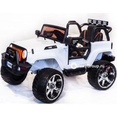 Детский электромобиль JEEP WRANGLER SH 888 (ДВУХМЕСТНЫЙ, кожа, резиновые колеса)