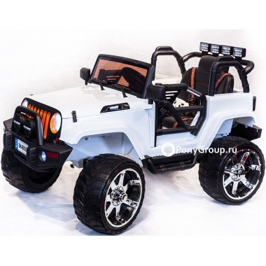 Детский электромобиль JEEP WRANGLER SH 888 (двухместный с резиновыми колесами и кожаным сиденьем)