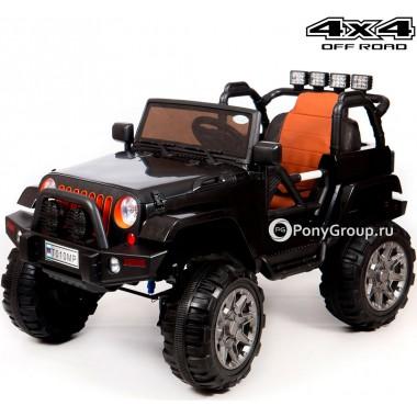 Детский электромобиль JEEP WRANGLER T010MP 4x4 (полноприводный 4WD с резиновыми колесами и кожаным сиденьем)