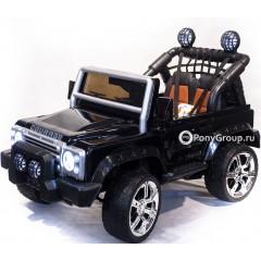 Детский электромобиль Land Rover Defender DK F006 (резиновые колеса, кожа)