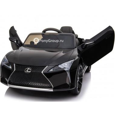 Детский электромобиль LEXUS LC500 (с резиновыми колесами и кожаным сиденьем)
