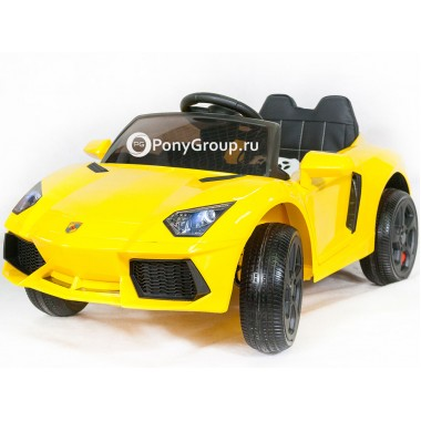 Детский электромобиль Lamborghini BBH 1188 (с резиновыми колесами и кожаным сиденьем)