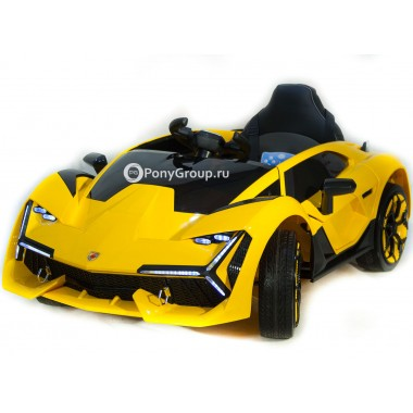 Детский электромобиль Lamborghini YHK2881 (с резиновыми колесами, кожаным сиденьем)