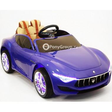 Детский электромобиль Maserati A005AA (с подсветкой, резиновыми колесами, регулируемым кожаным сиденьем)