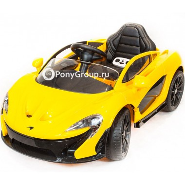 Детский электро гиперкар McLaren P1 (резиновые колеса, кожа)