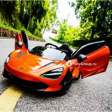 Детский электромобиль McLaren DKM720S DMD720S (с резиновыми колесами, кожаным сиденьем)