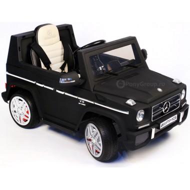 Детский электромобиль Mercedes-Benz G-65 (с резиновыми колесами, кожаным сиденьем)