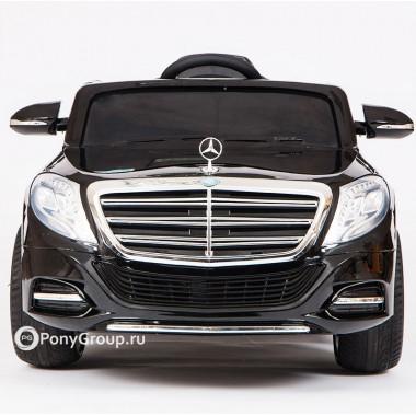 Детский электромобиль Mercedes-Benz S600 (резиновые колеса, кожа)