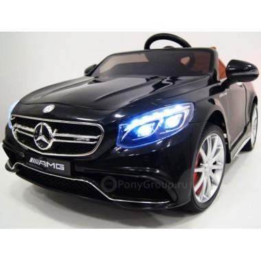 Детский электромобиль Mercedes-Benz S63 AMG (резиновые колеса, кожа)