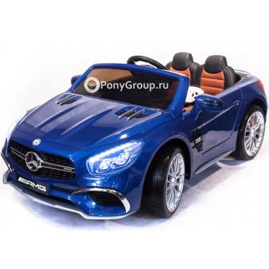 Детский электромобиль Mercedes-Benz SL65 (резиновые колеса, кожа, регулировка сиденья)