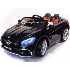 Детский электромобиль Mercedes-Benz SL65 XMX 602 (резиновые колеса, кожа, регулировка сиденья)