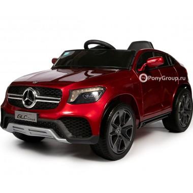 Детский электромобиль Mercedes-Benz Concept GLC Coupe BBH-0008 (с резиновыми колесами и кожаным сиденьем)