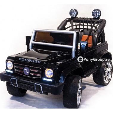 Детский электромобиль Mercedes-Benz DK F008 (с резиновыми колесами и кожаным сиденьем)