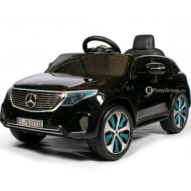 Детский электромобиль Mercedes-Benz EQC 4004 MATIC HL378 (с резиновыми колесами, кожаным сиденьем)