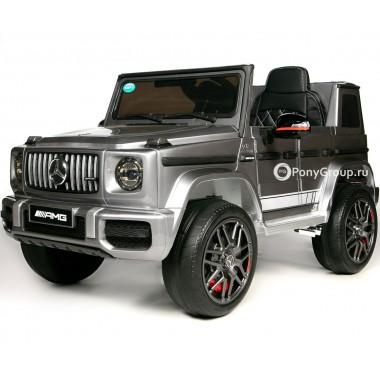 Детский электромобиль Mercedes-Benz G63 AMG BBH-0003 (с резиновыми колесами и кожаным сиденьем)