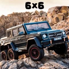 Детский электромобиль Mercedes-Benz G63 AMG 6x6 DMD318 (ШЕСТИКОЛЕСНЫЙ, ПОЛНОПРИВОДНЫЙ, резиновые колеса, кожа)