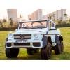 Детский электромобиль Mercedes-Benz G63 AMG 6x6 DMD318 (шестиколесный, полноприводный с резиновыми колесами и кожаным сиденьем)