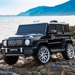 Детский электромобиль Mercedes-Benz G63 S306 (кожа, резиновые колеса)