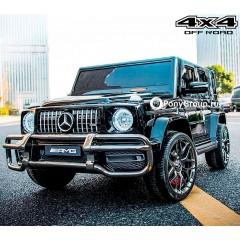 Детский электромобиль Mercedes-Benz G63 S307 4X4 (ПОЛНОПРИВОДНЫЙ 4WD, ДВУХМЕСТНЫЙ, резиновые колеса, кожа)