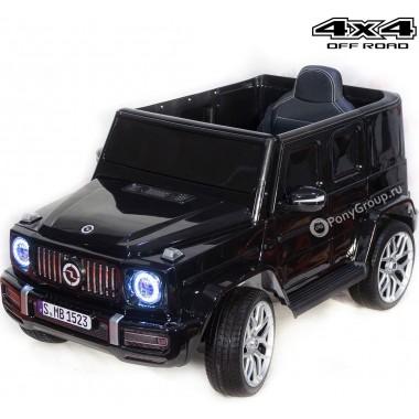 Детский электромобиль Mercedes-Benz G63 mini V8 YEH1523 4WD (полноприводный 4х4 с резиновыми колесами и кожаным сиденьем)