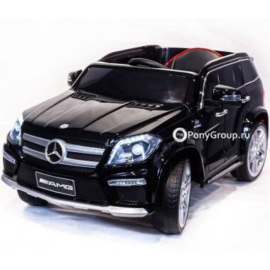 Детский электромобиль Mercedes-Benz GL63 AMG (с резиновыми колесами и кожаным сиденьем)