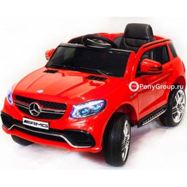 Детский электромобиль Mercedes-Benz GLE63S AMG (с резиновыми колесами и кожаным сиденьем)