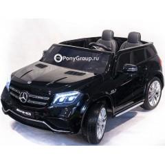 Детский электромобиль Mercedes-Benz GLS63 AMG 4WD HL228 (ПОЛНЫЙ ПРИВОД, двухместный, резиновые колеса, кожа)