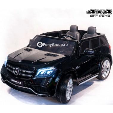 Детский электромобиль Mercedes-Benz GLS63 AMG 4x4 HL228 (двухместный, полноприводный 4WD с резиновыми колесами и кожаным сиденьем)