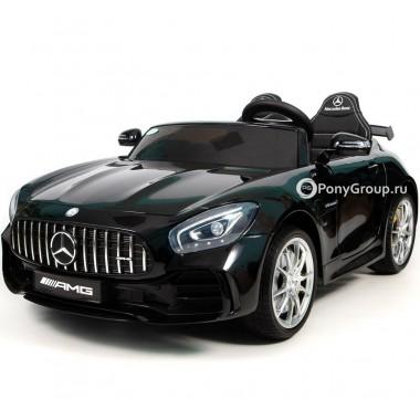 Детский электромобиль Mercedes-Benz GTR AMG HL289 (двухместный с резиновыми колесами и кожаным сиденьем)