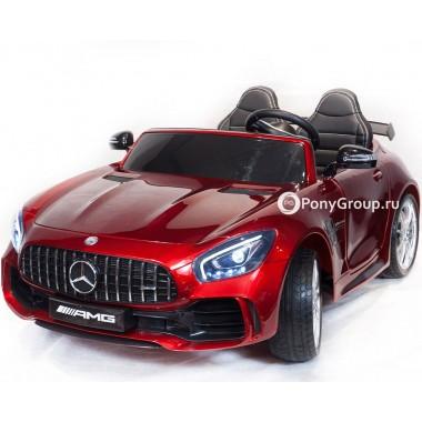 Детский электромобиль Mercedes-Benz GTR 4x4 (ПОЛНЫЙ ПРИВОД, ДВУХМЕСТНЫЙ, резиновые колеса, кожа)