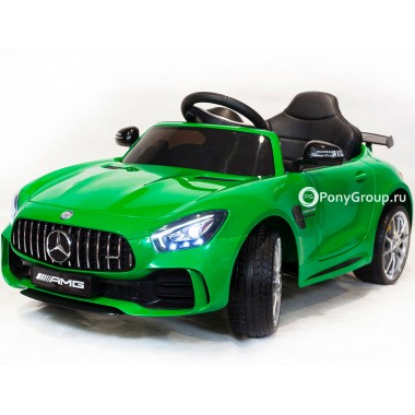 Детский электромобиль Mercedes-Benz GTR AMG HL288 (с резиновыми колесами и кожаным сиденьем)