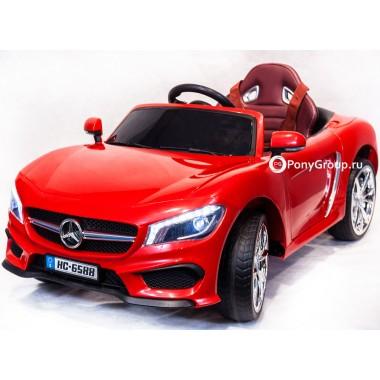 Детский электромобиль Mercedes-Benz HC 6588 (с резиновыми колесами и кожаным сиденьем)