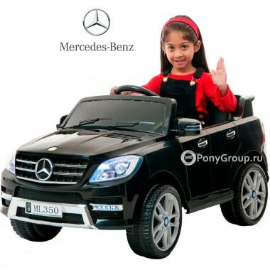 Детский электромобиль Mercedes-Benz ML350 (с резиновыми колесами и кожаным сиденьем)